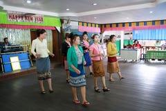Paslop或Baslop老挝舞蹈 图库摄影