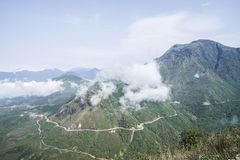 Pasma górskiego Hoang Lien syn Północny Wietnam obrazy stock