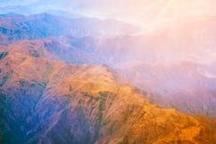 Pasmo górskie forma samolot Fotografia Stock