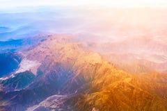 Pasmo górskie forma samolot Obraz Royalty Free
