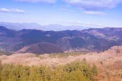 Pasmo górskie i niebo Obraz Stock