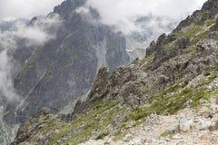 Pasmo górskie i wąwóz obraz royalty free