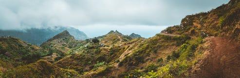 Pasmo górskie Ribeira De Janela na Santo Antao przylądku Verde zdjęcia stock