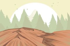 Pasmo górskie scena Obrazy Royalty Free