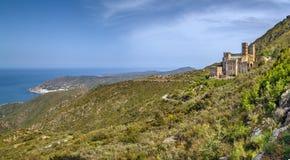 Pasmo górskie Serra De Rodes, Hiszpania zdjęcia stock