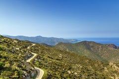 Pasmo górskie Serra De Rodes, Hiszpania zdjęcie stock