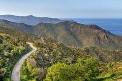 Pasmo górskie Serra De Rodes, Hiszpania obraz royalty free