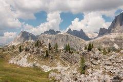 Pasmo górskie w dolomitach Zdjęcie Stock