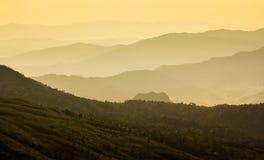 Pasmo górskie w Tajlandia Obrazy Royalty Free