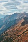 Pasmo górskie w Zachodnich Tatrzańskich górach Zdjęcia Royalty Free