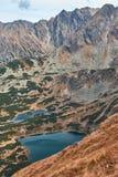 Pasmo górskie w Zachodnich Tatrzańskich górach Fotografia Stock
