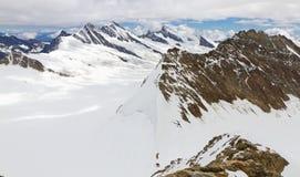 Pasmo górskie, widok od góry Moench, Szwajcaria Obrazy Stock