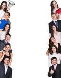 Pasmo ludzie biznesu w kącie Zdjęcia Royalty Free