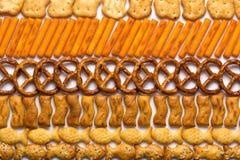 Pasmo słone przekąski Fotografia Royalty Free