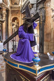 Paso με το άγαλμα του Ιησούς Χριστού με το σταυρό για την πομπή Πάσχας Στοκ εικόνες με δικαίωμα ελεύθερης χρήσης