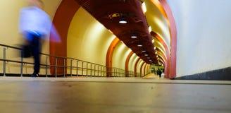 Paso al metro Fotos de archivo