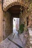 Paso arqueado en el pueblo viejo en Francia Fotografía de archivo