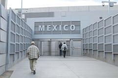 Paso de frontera Foto de archivo