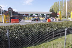 Paso de frontera de Aldergrove Imagen de archivo libre de regalías