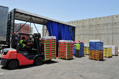 Paso de frontera de Kerem Shalom Imagen de archivo libre de regalías