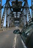 Paso de frontera de Rumania Bulgaria el puente Imagen de archivo libre de regalías