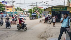 Paso de frontera entre Tailandia y Camboya imagen de archivo libre de regalías