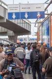 Paso de frontera peatonal Fotografía de archivo libre de regalías