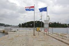 Paso de frontera Rovinj Fotografía de archivo