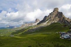 Paso de Giau, Cortina d'Ampezzo, Belluno, Italia Imágenes de archivo libres de regalías
