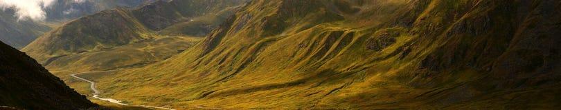 Paso de Hatcher, Alaska, panorama fotografía de archivo libre de regalías