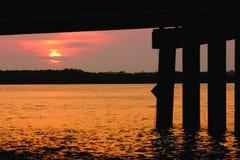 Paso de Johns en la salida del sol Fotografía de archivo