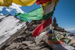 Paso de Kardhung del La en Ladakh Fotografía de archivo