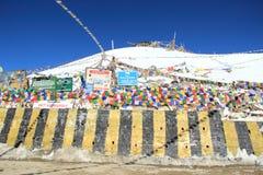 Paso de Khardongla. Fotos de archivo libres de regalías