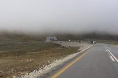 Paso de Khnjrab Frontera de Paquistán China fotografía de archivo libre de regalías