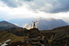 Paso de Kuari en Uttarakhand, la India fotos de archivo