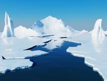 Paso de la apertura en hielo de paquete Fotos de archivo