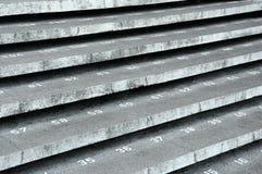 Paso de la escalera con números en la mezquita de la ciudad de Kuching Fotografía de archivo libre de regalías