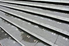Paso de la escalera con números en la mezquita de la ciudad de Kuching Foto de archivo