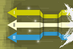 Paso de la flecha a través ilustración del vector