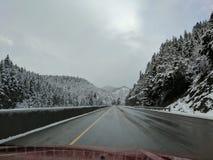 Paso de la nieve Imagen de archivo libre de regalías