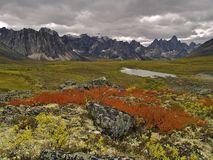 Paso de la piedra sepulcral, Yukon Imagen de archivo libre de regalías