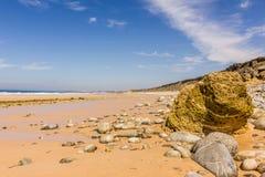 Paso de la playa de la ruta Alentejo Portugal del vicentina Imágenes de archivo libres de regalías