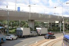 paso de la tranvía en la isla de HK del oeste Imagenes de archivo