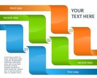 Paso de las opciones de la plantilla de la presentación de la disposición de Infographics Foto de archivo libre de regalías
