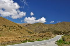 Paso de Lindis en Nueva Zelandia Fotografía de archivo libre de regalías