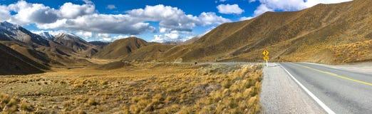 Paso de Lindis, Nueva Zelandia Imagen de archivo
