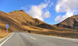 Paso de Lindis, Nueva Zelandia Foto de archivo