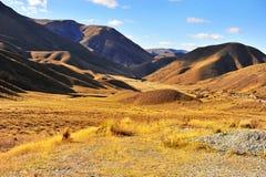 Paso de Lindis, Nueva Zelandia Fotos de archivo