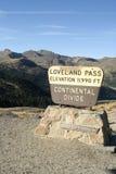 Paso de Loveland - Colorado imagenes de archivo