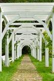 Paso de madera del arco Foto de archivo